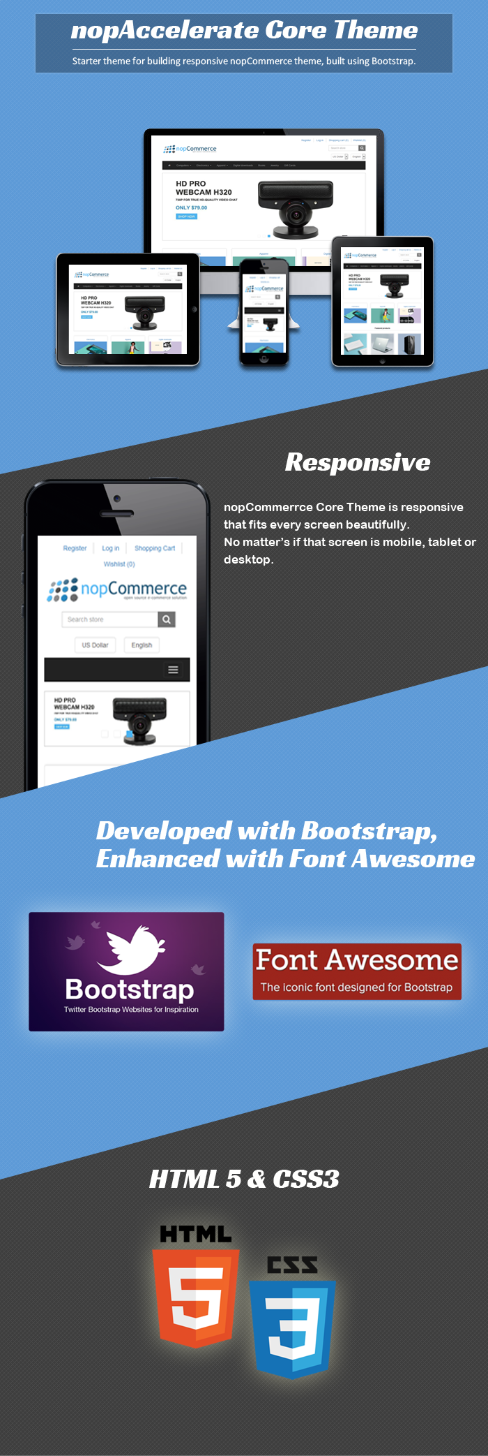 best nopcommerce starter theme build using bootstrap