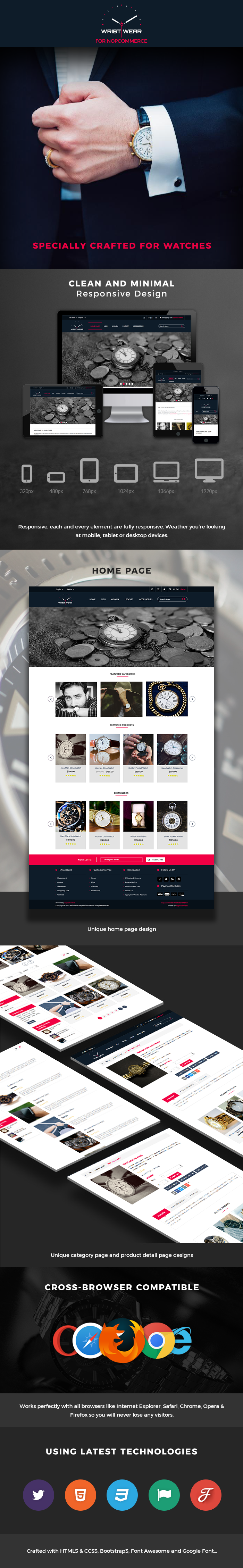 Responsive Theme crafted for Watches